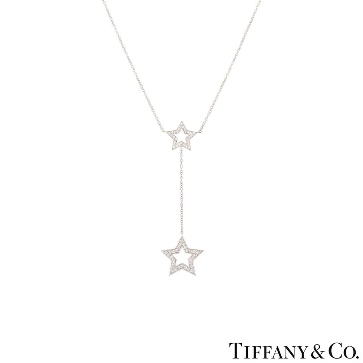 af685db15 Tiffany & Co. Platinum Diamond Set Star Necklace
